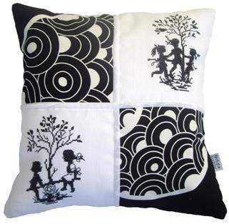 Textilkonst i svartvitt